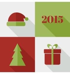 Flat Christmas design vector image
