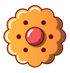 flower biscuit icon cartoon style vector image
