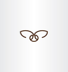 Fly insect icon symbol vector