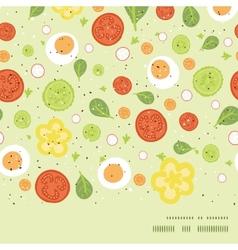 fresh salad horizontal frame seamless vector image