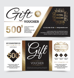 Gift coupon royal design vector