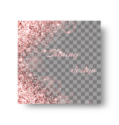 glittering pink background vector image