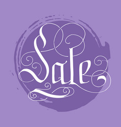hand lettering sale on grunge brush background vector image