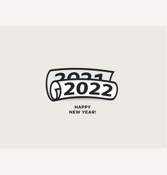 happy new year 2020 to 2021 nmbers roll vector image