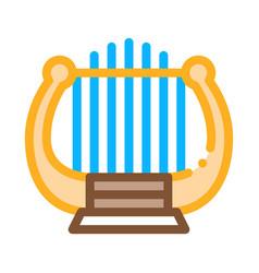 harp icon outline vector image