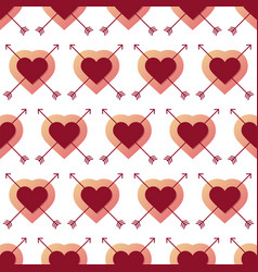 heart and arrow seamless pattern with creative vector image