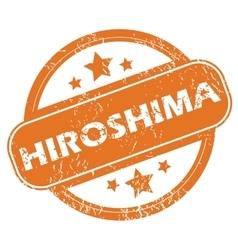 Hiroshima round stamp vector