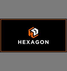 Kd hexagon logo design inspiration vector