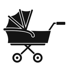 kid trolley icon simple style vector image