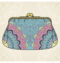 Lacy elegant purse vector