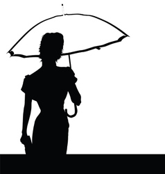 lady with umbrella vector image