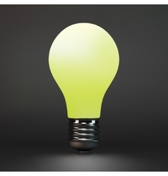 Lightbulb idea symbol 3d vector image