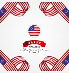 malaysia independence day design for celebrate vector image