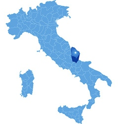 Map of Italy Chieti vector