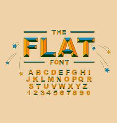 Modern bold font and alphabet vintage vector