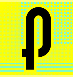 Modern font trendy alphabet black letter on a vector