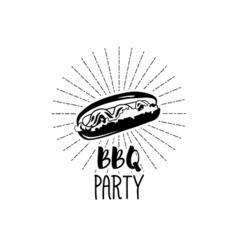 monochrome hotdog logo templates and badges vector image