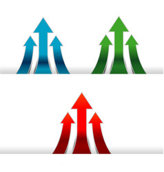 move forwards colorful arrow vector image