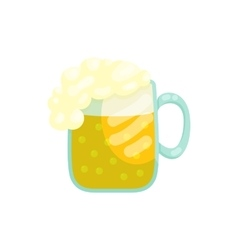 Mug of beer icon in cartoon style vector image
