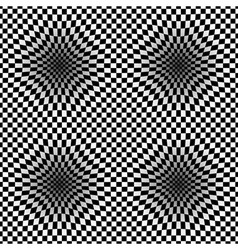 Op Art Halftone Bulge Black White Seamless Pattern vector