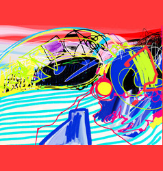 original digital painting of abstraction vector image