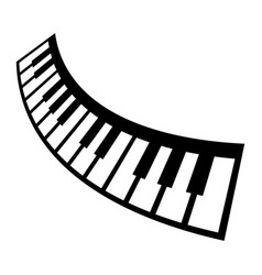 Piano keyboard musical instrument icon vector