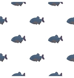 Piranha fish icon cartoon Singe aquarium fish vector