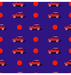Pop art pattern with car vector