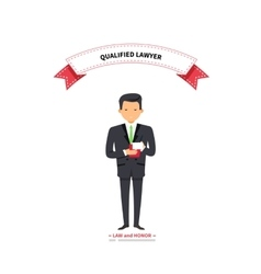 Qualified Lawyer Man vector image