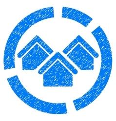 Realty diagram grainy texture icon vector