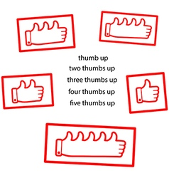 Red thumb up clean stamp vector