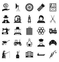 Repair service icons set simple style vector