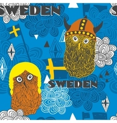 Seamless pattern with swedish theme vector