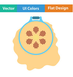 Sewing hoop icon vector