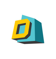 sign of the letter d vector image