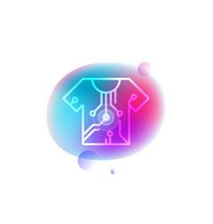 Smart t-shirt neon icon vector