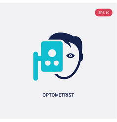 Two color optometrist icon from health and vector
