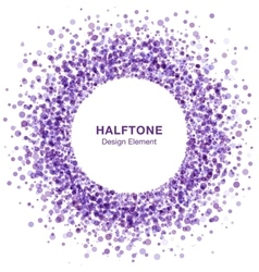 Violet abstract halftone design element vector