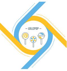 Website banner and landing page lollipop vector