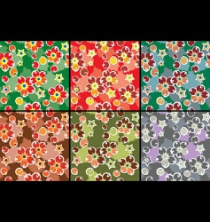 barberry pattern set vector image vector image