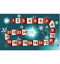 christmas game with advent calendar vector image vector image
