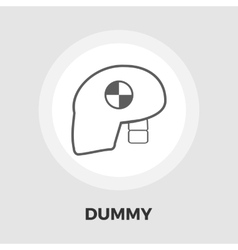 Dummy head for crash test flat icon vector