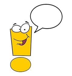 Exclamation Mark Cartoon Character vector image vector image