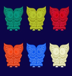 set of Cute Owl Characters vector image vector image