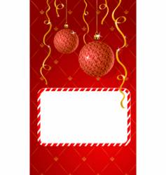 greeting card with copy-space vector image vector image