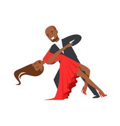 professional dancer couple dancing flamenco vector image