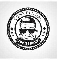 round Confidential top secret stamp or vector image