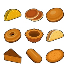 Baking icon set vector image