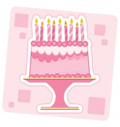 birthday cake illustration vector image vector image