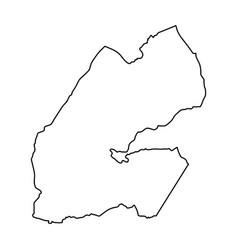 djibouti map of black contour curves vector image